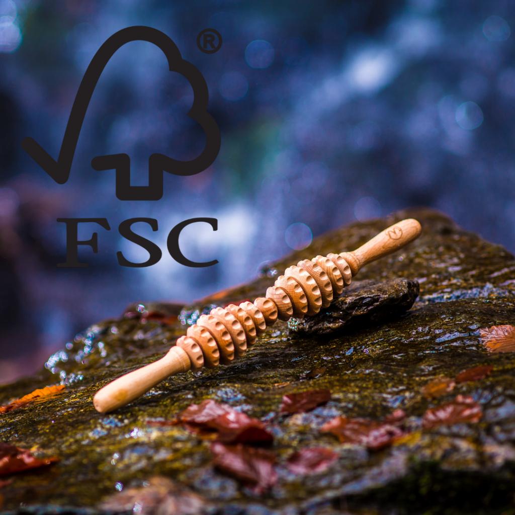FSC certifikat za lesene valjčke za maderoterapijo