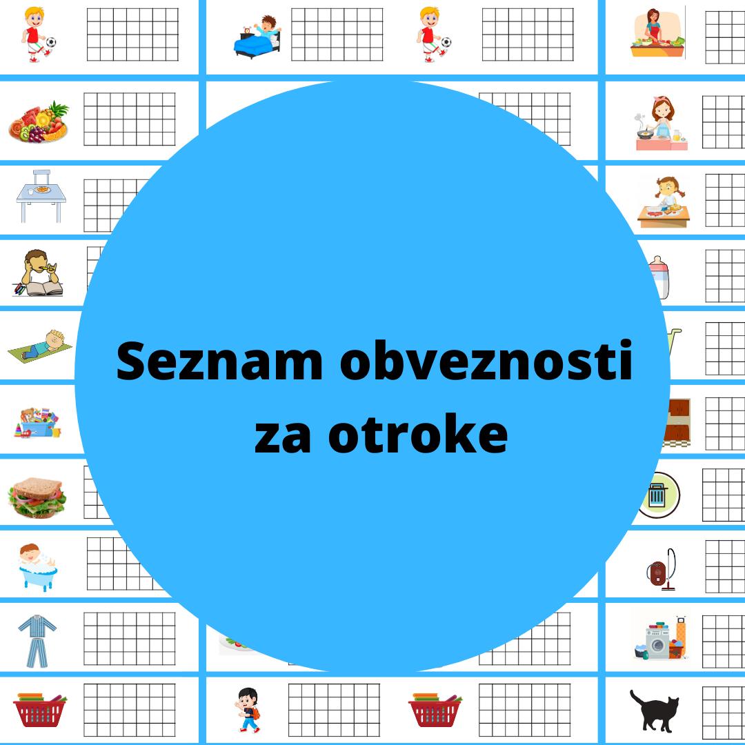 seznam obveznosti in nalog za otroke
