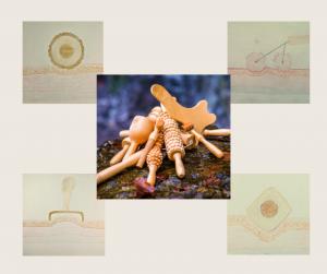 anatomsko oblikovani leseni pripomočki za maderoterapijo